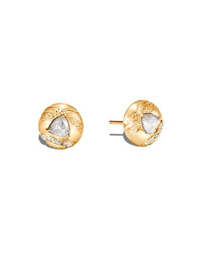 Lahar 18k Gray/White Diamond Stud Earrings