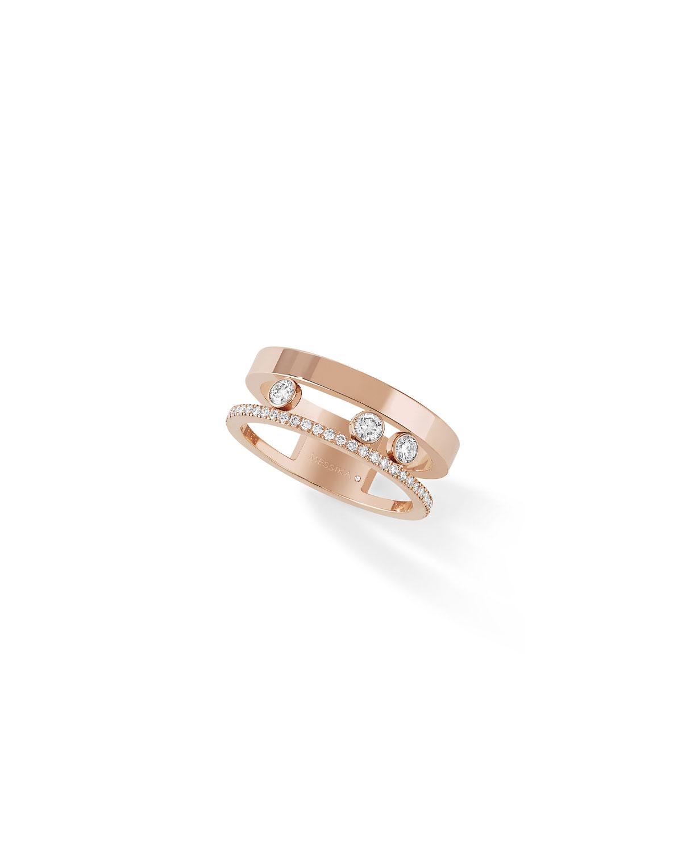 Move Romane Diamond Split-Band Ring in 18K Rose Gold