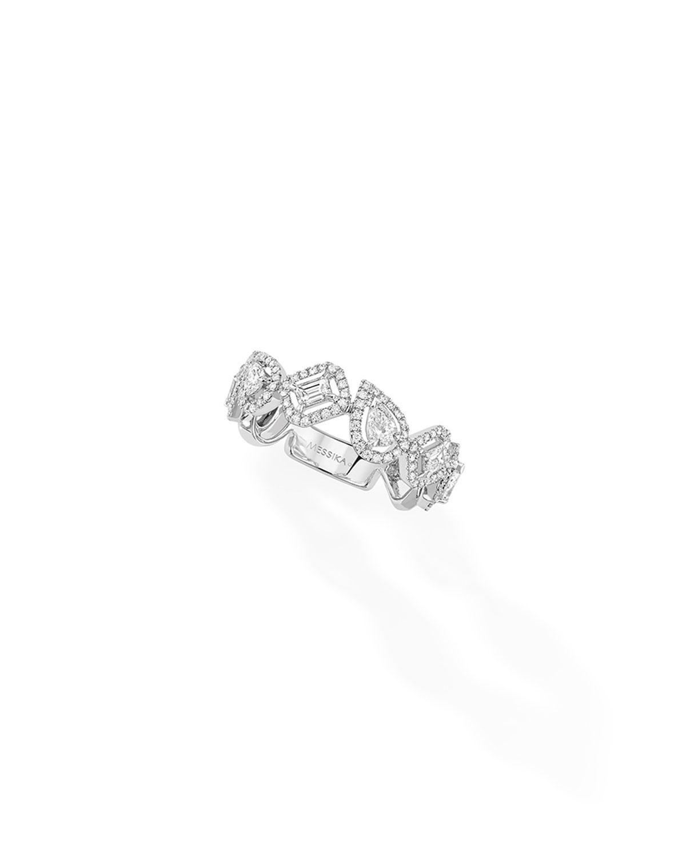 My Twin 18k White Gold Diamond Ring