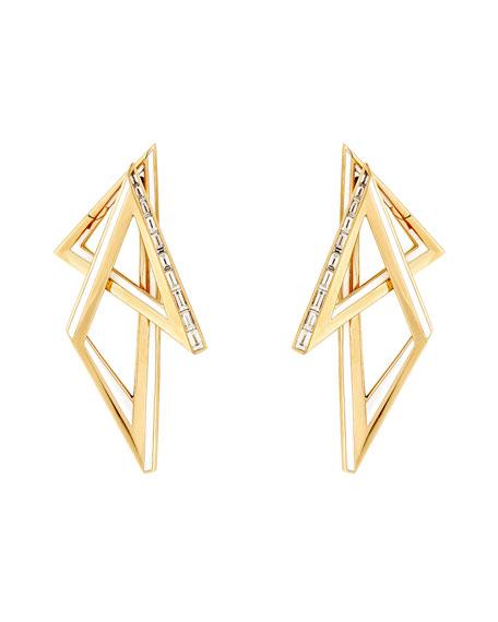 Stephen Webster Vertigo 18k Multi-Triangle Earrings with Diamonds