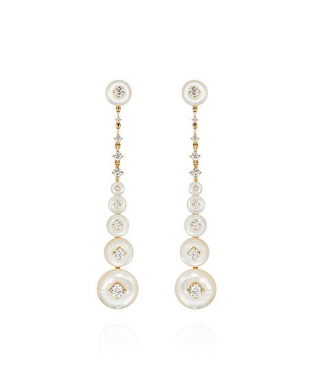 Fernando Jorge Surrounding 18k Mother-of-Pearl & Diamond Earrings