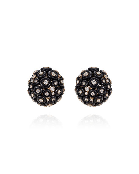 Fernando Jorge Surround 18k Rose Gold Diamond Cluster Stud Earrings