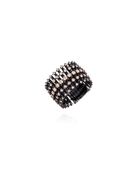 Fernando Jorge Brilliant Black Rhodium Floating Diamond Ring, Size 6.75