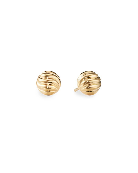 David Yurman Sculpted Cable Stud Earrings in Gold