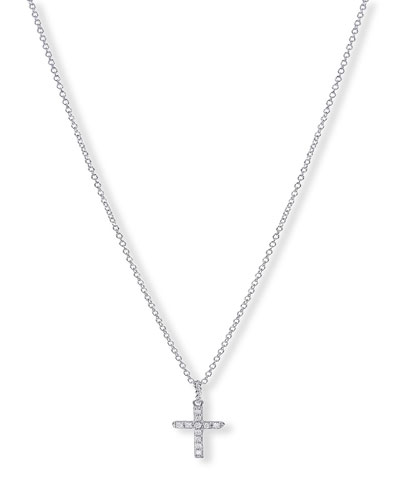 Cable Collectibles Cross Necklace with Diamonds in Yellow/White Gold on Chain