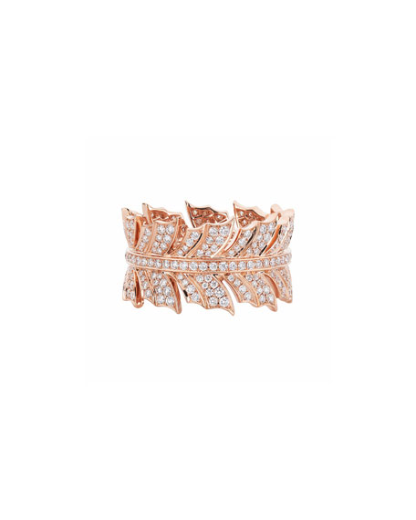 Stephen Webster Magnipheasant Diamond Pave Band Ring in 18k Rose Gold
