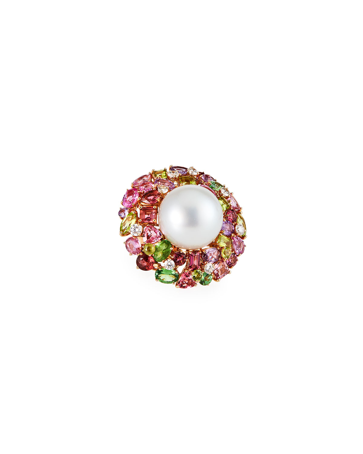 18k Pearl Cocktail Ring