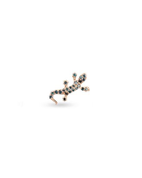 Stevie Wren 14k Rose Gold Multi-Diamond Salamander Single Stud Earring