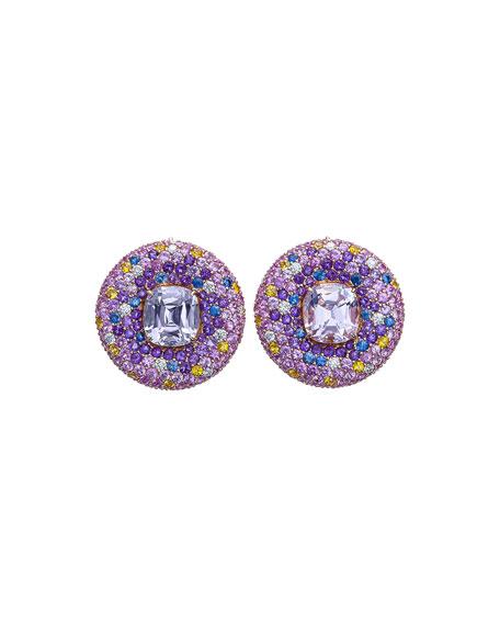 Margot McKinney Jewelry 18k Kunzite Button Earrings