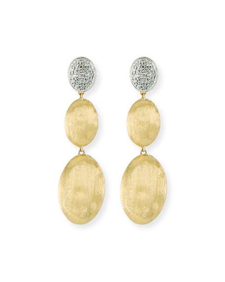 Marco Bicego Siviglia Large 3-Drop Earrings with Diamonds