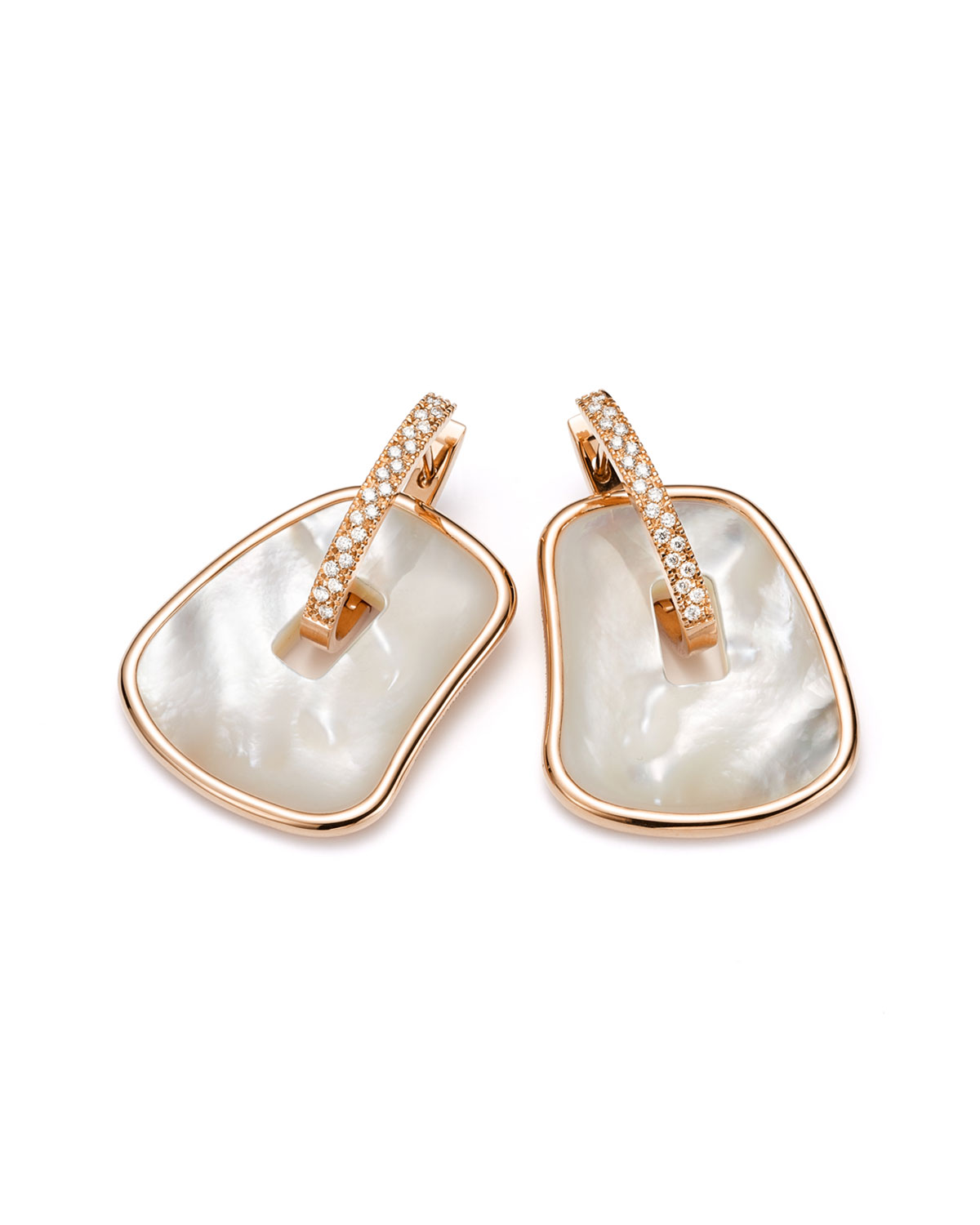 Puzzle Mother-of-Pearl Earrings