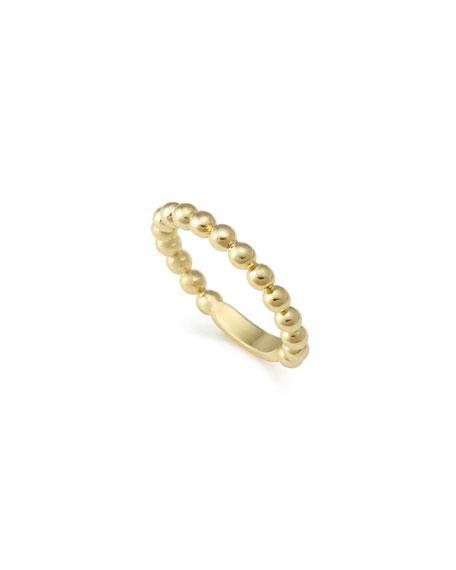 Lagos 18K Gold Stacking Ring, Size 7