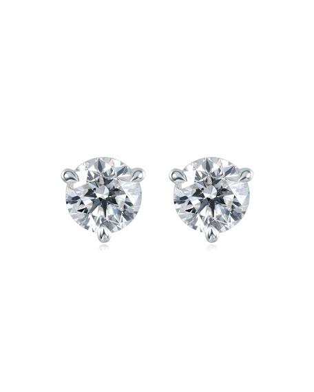 Memoire Platinum Diamond Post Earrings, 0.52tcw.