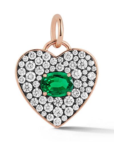 Prive Emerald Heart Pendant