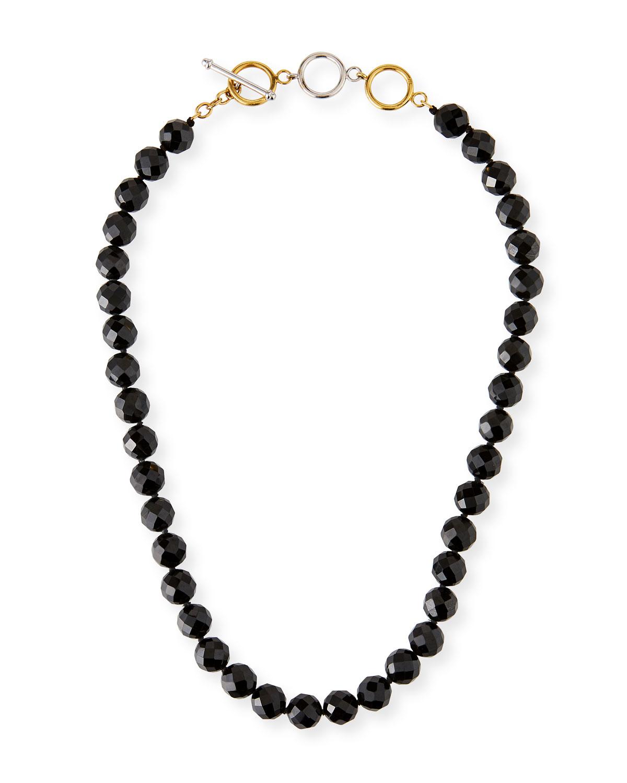 Black Nephrite Bead Necklace