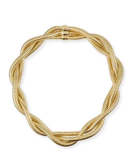 "Alberto Milani 18k Gold 3-Row Braided Necklace, 16""L"