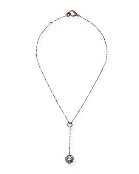 Marco Dal Maso 18k Black Gold Diamond Ball Y-Necklace