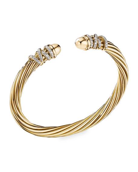 David Yurman Helena Dome Bracelet with Diamonds, Size M