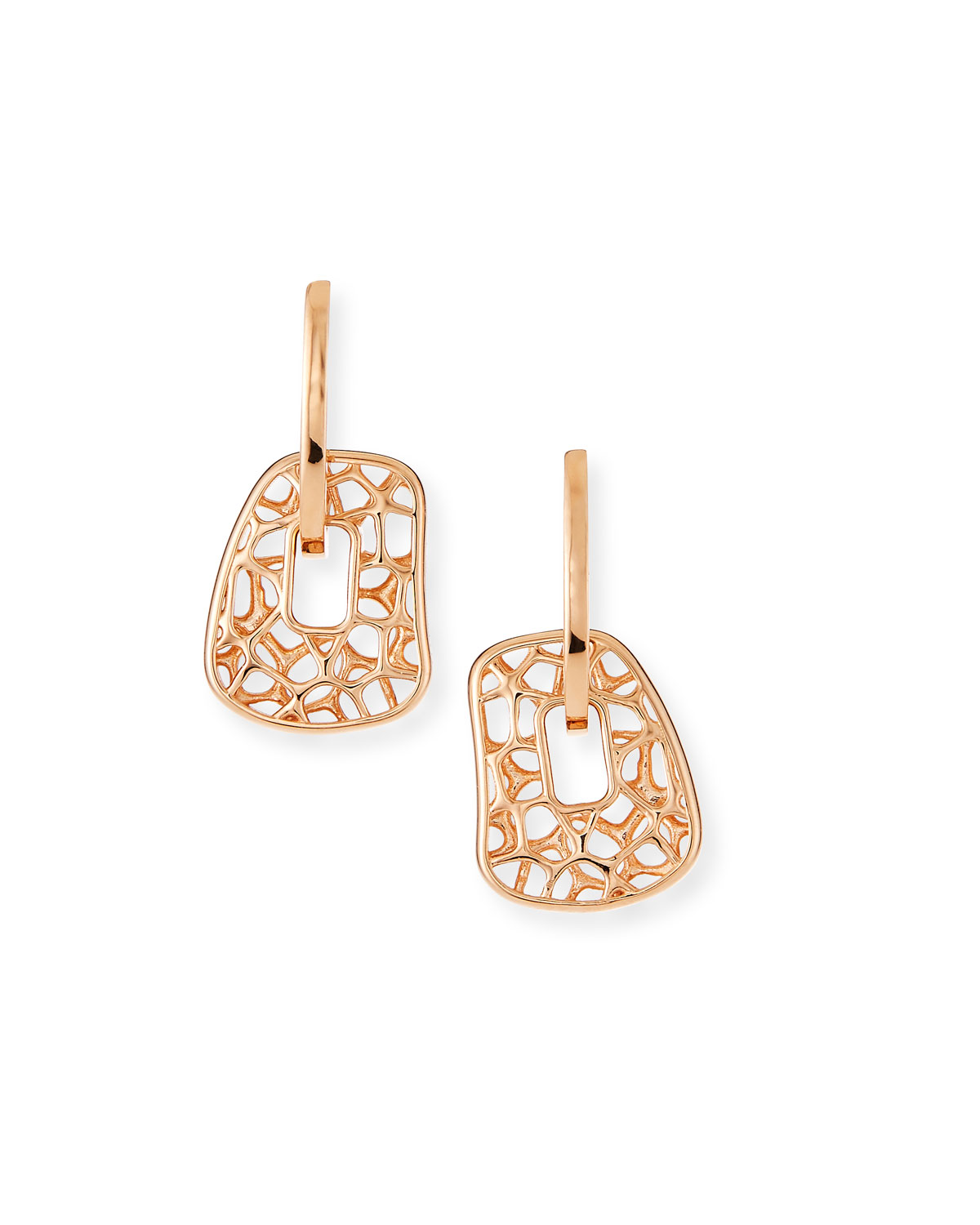 Small 18k Rose Gold Puzzle Earrings