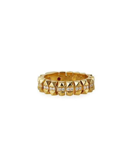 Roberto Coin Rock and Diamonds 18k Yellow Gold Diamond Ring, Size 6.5