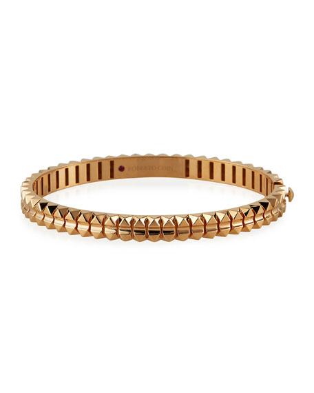 Roberto Coin Rock and Diamonds 18k Rose Gold Bangle Bracelet, 48x58mm