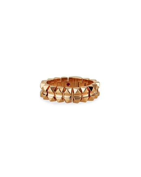 Roberto Coin Rock and Diamonds 18k Rose Gold Ring, Size 7