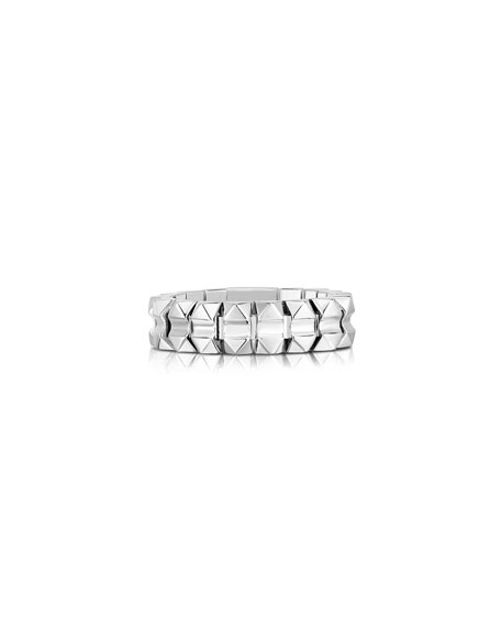 Roberto Coin Rock and Diamonds 18k White Gold Ring, Size 6