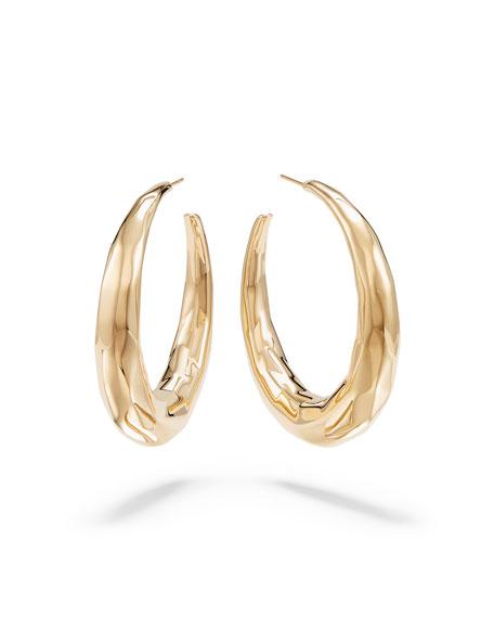 Lana 14K Uptown Textured Hoop Earrings, 55mm