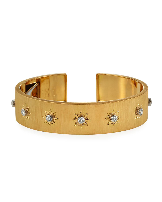 Macri 18k Yellow Gold Diamond Cuff