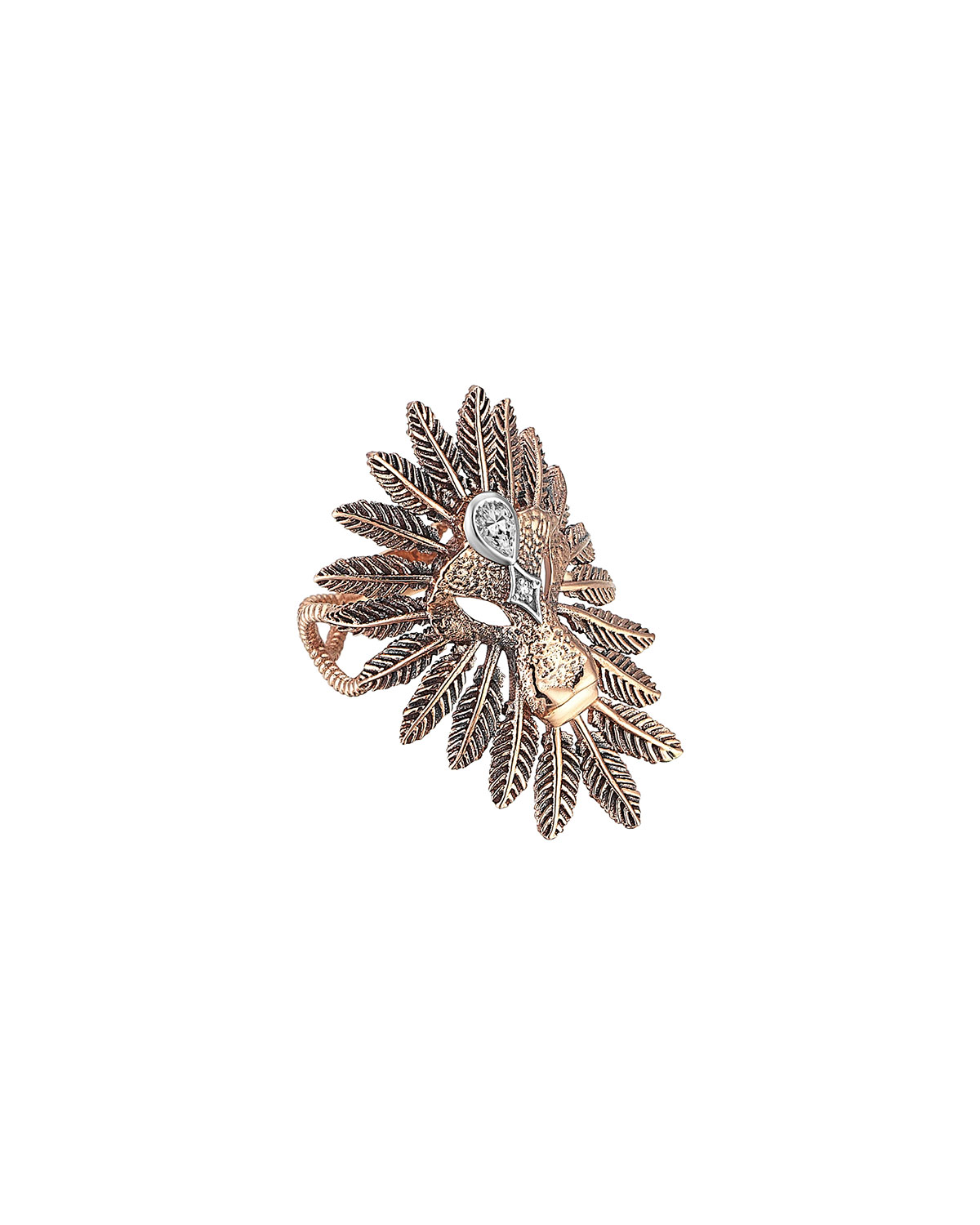 Lion Feather-Trim Ring