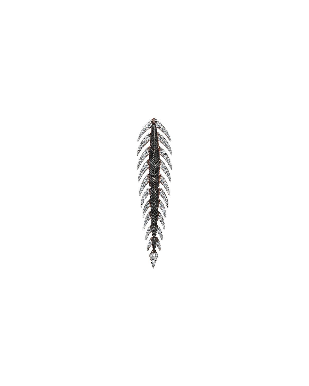 14k Diamond Crocodile Tail Earring