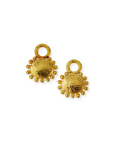 Elizabeth Locke 19k Oval Domed Earring Pendants