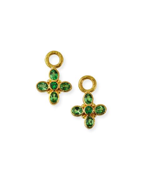 Elizabeth Locke 19k Green Garnet Earring Pendants