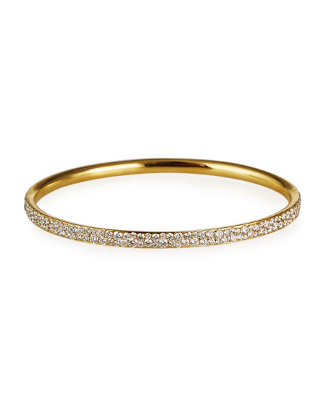 Ippolita Stardust Pave Bangle in 18K Gold with Diamonds