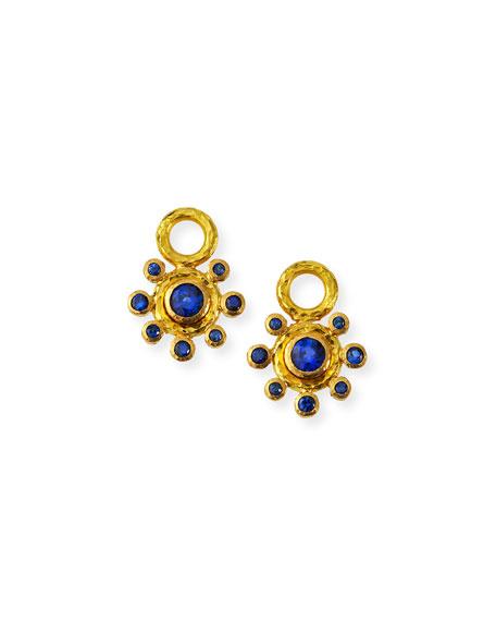 Elizabeth Locke 19k Sapphire Earring Pendants