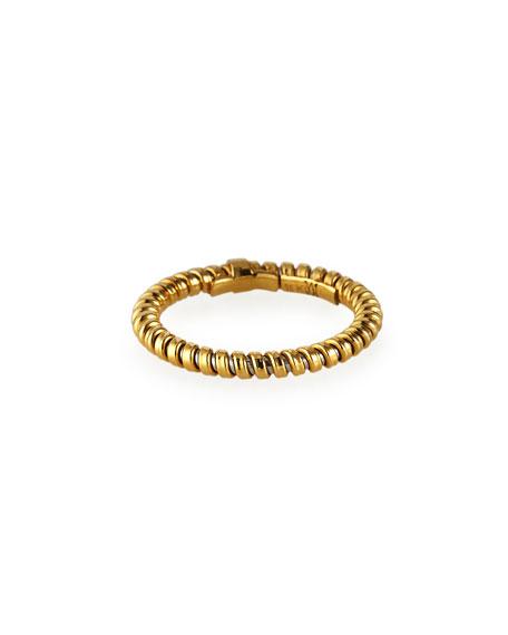 Alberto Milani 18k Yellow Gold Tubogas Ring, Size 6.5