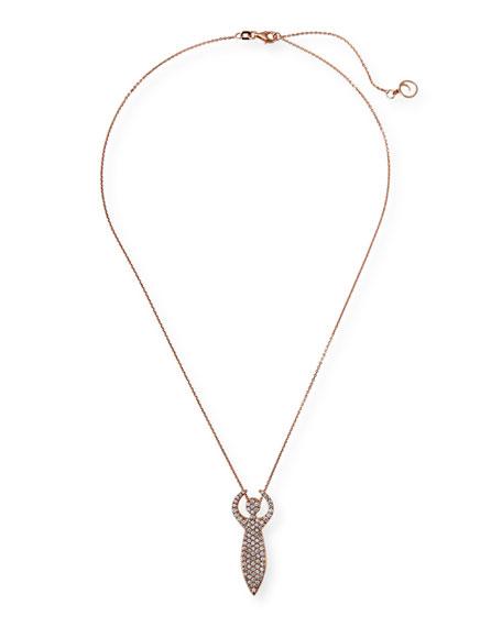 BeeGoddess 14k White Gold Diamond Artemis Necklace