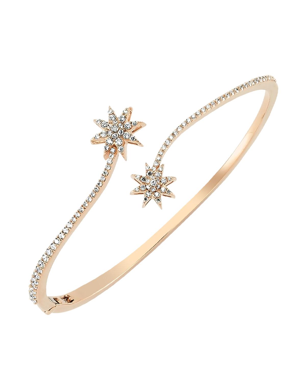 Venus Star 14k Diamond Bypass Bracelet