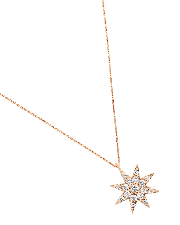 Venus Star 14k Medium Diamond Pendant Necklace