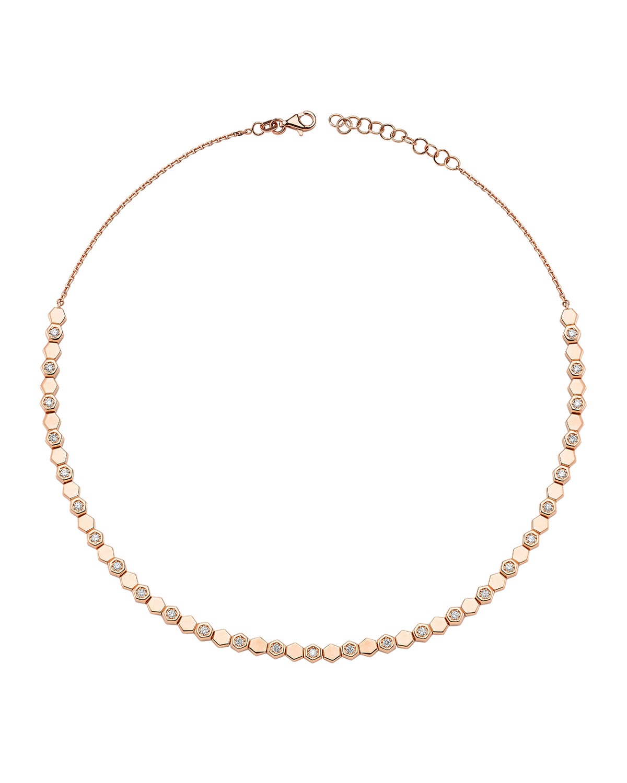 14k Diamond Honey Choker Necklace