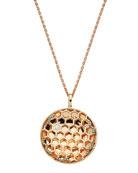 BeeGoddess 14k Diamond Honeycomb Pendant Necklace