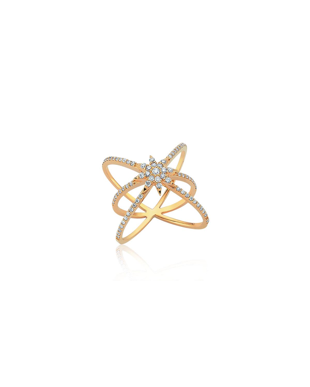 Venus Star 14k Diamond Crisscross Ring