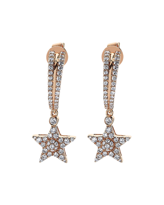 Sirius Star 14k Diamond Drop Earrings