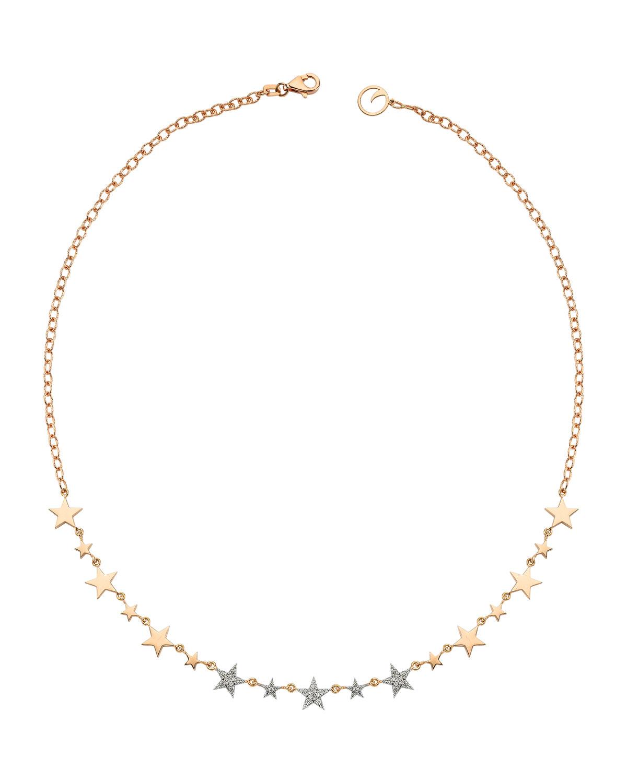 Sirius Star 14k Diamond Choker Necklace