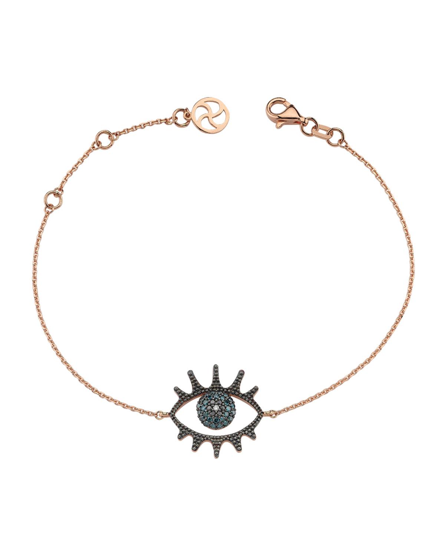 Eye Light Open Multi-Diamond Bracelet