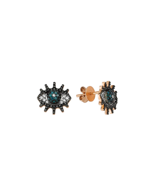 Eye Light Multi-Diamond Stud Earrings
