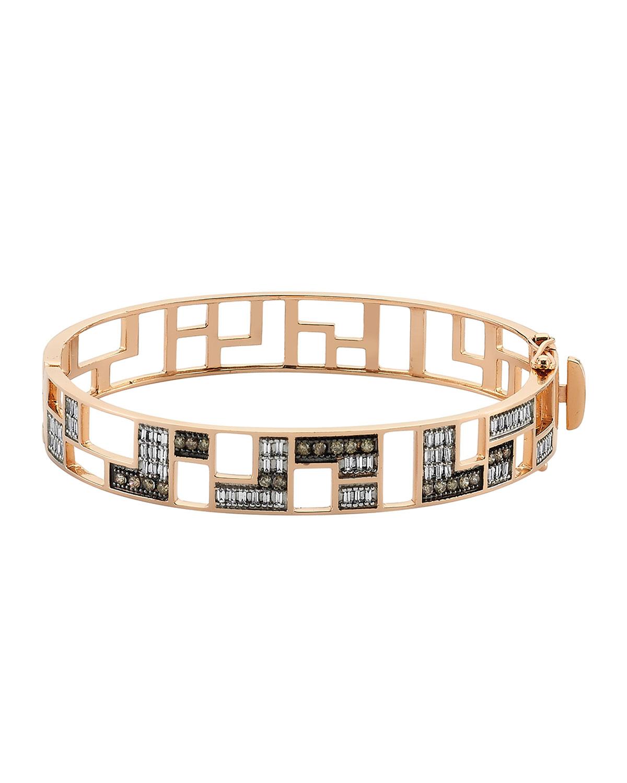 Mondrian Multi-Diamond Hinge Bracelet