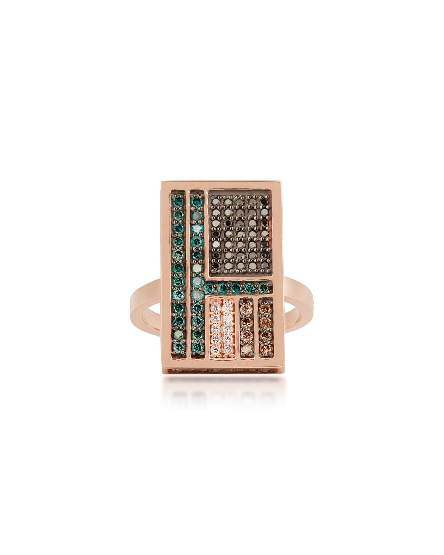 Mondrian Multi-Diamond Ring