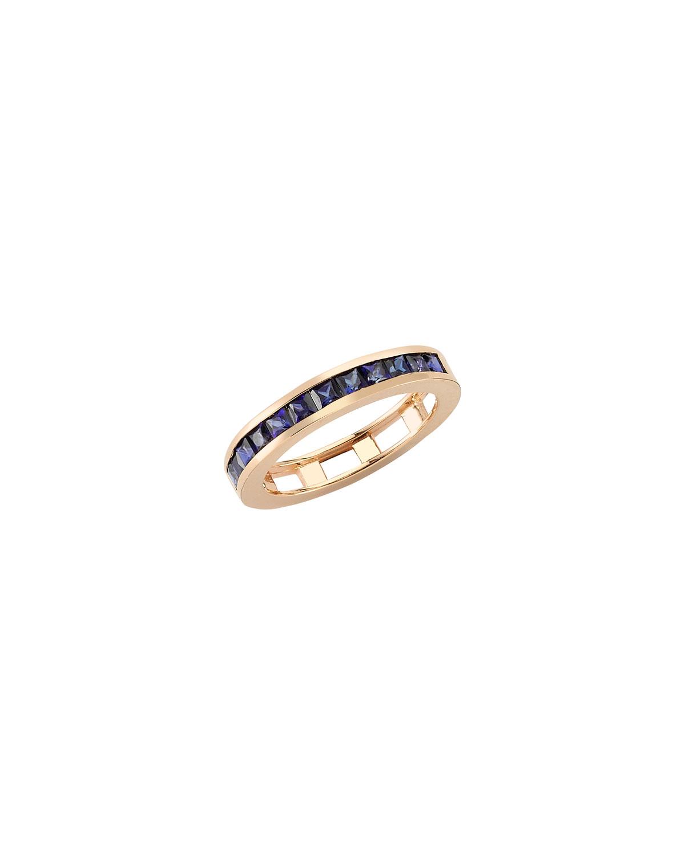 Mondrian Blue Sapphire Ring