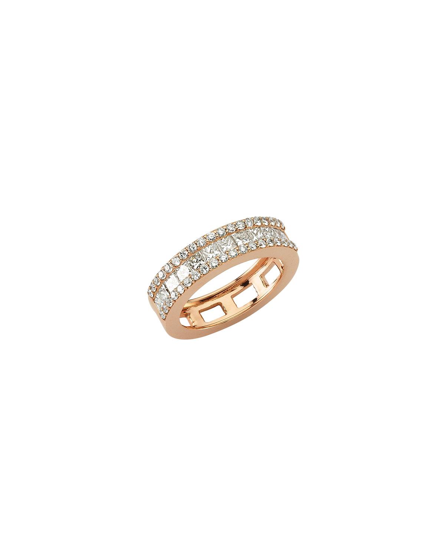 Mondrian White Diamond Ring